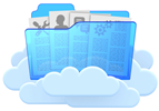 Folders Full of Collaboration Tools and Resources Stored in The Cloud