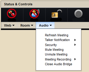 Meeting Controller Audio Controls Screenshot