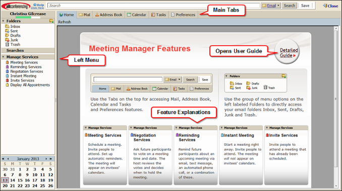 Meeting Manager Screenshot