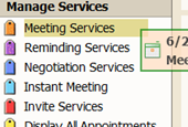 Meeting Manager with Integrated Scheduling Calendar